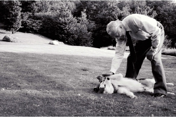 Gianni Agnelli with his dog Dyed Eyes by Priscilla Rattazzi
