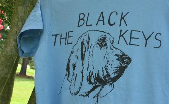 Black Keys T-Shirt with bloodhound