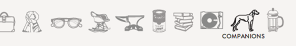 Menu Icons from the site Bureau of Trade