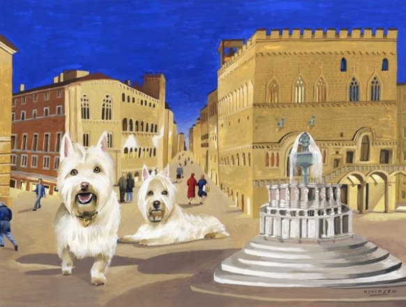 Two Westies in Perugia