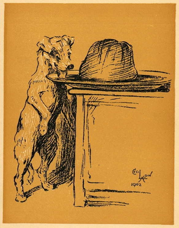 "Illustration by Cecil Aldin, 1902, from ""A Dog Day"""