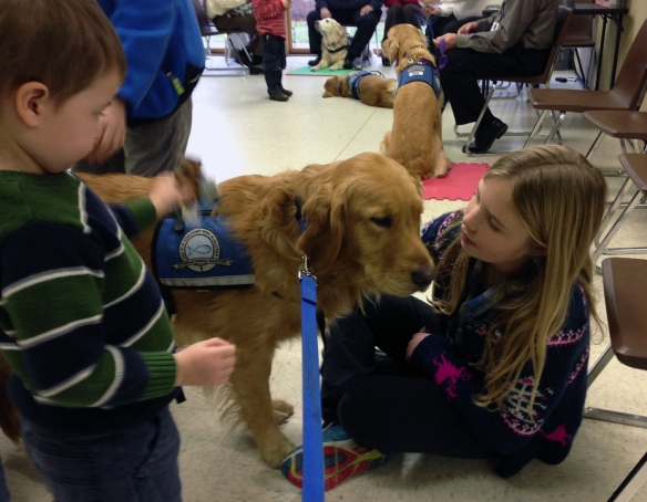K-9 Comforts Dogs with Kids in Newtown