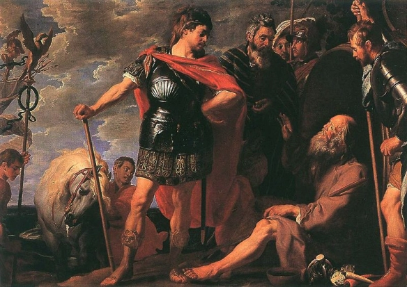 Alexander the Great meeting Diogenes