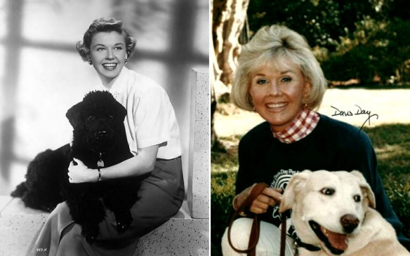 Doris Day with dogs