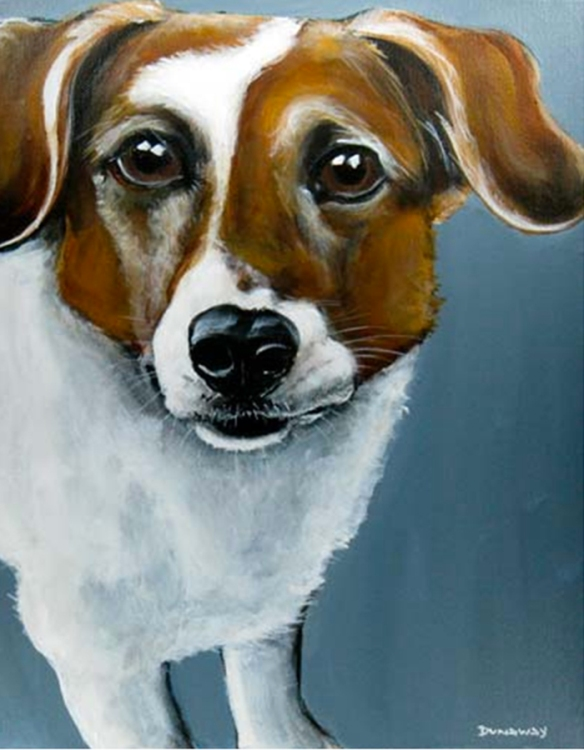 Dog portrait by Claire Dunaway