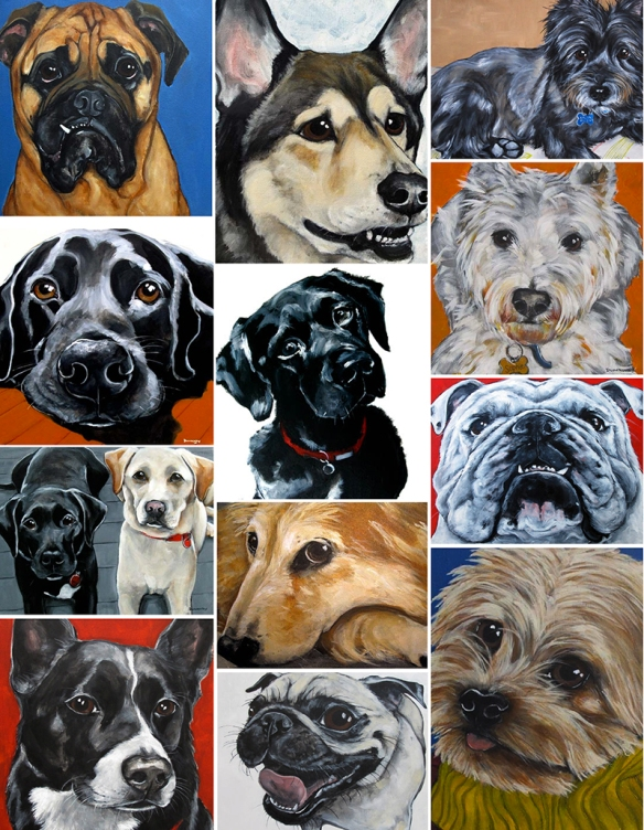 Claire Dunaway's dog portraits