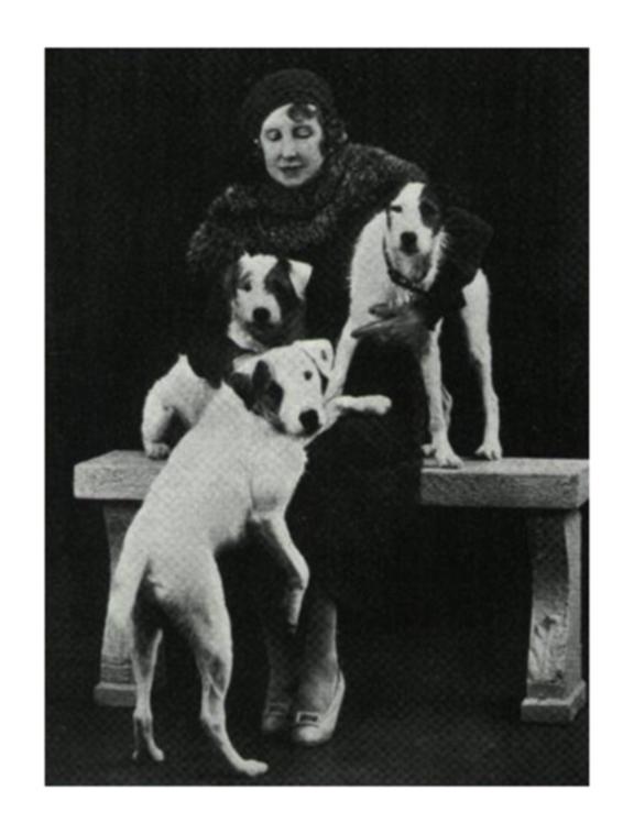 Elizabeth von Arnim and her dogs