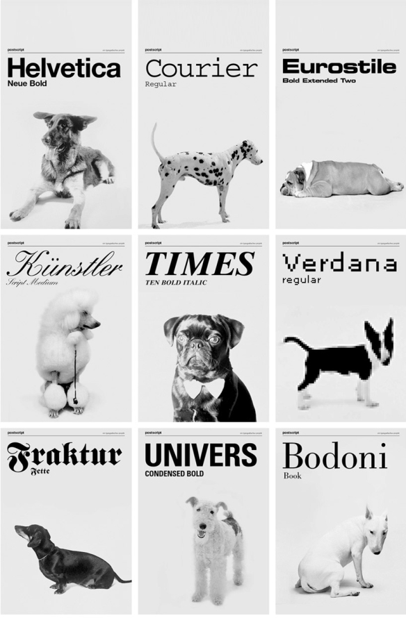 Dogs as Type by Grafisches büro
