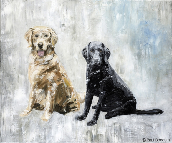 Jasper and Cooper by artist Paul Boddum