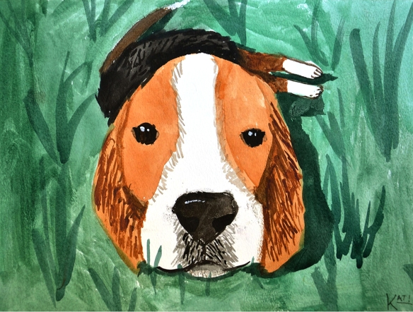 Lola watercolor by Kat