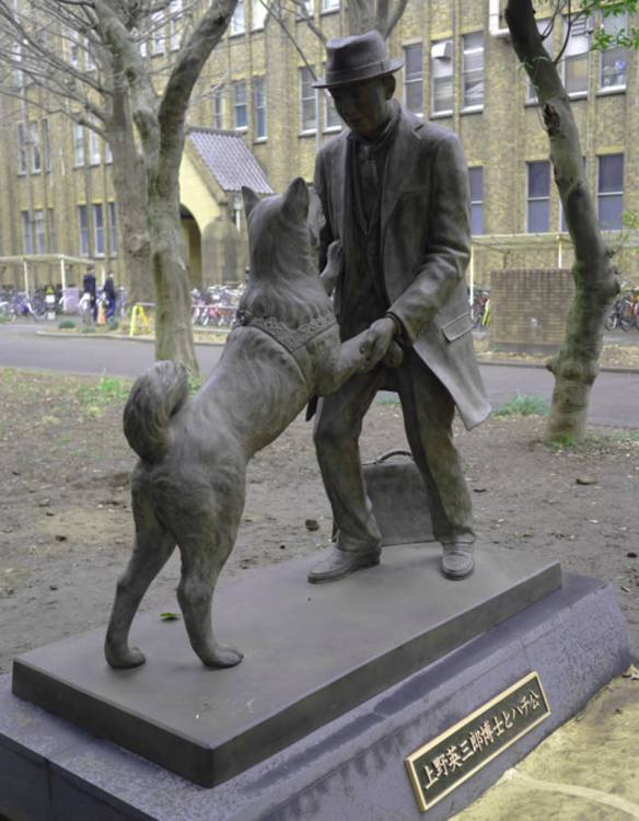 New Hachiko and Professor Ueno Sculpture